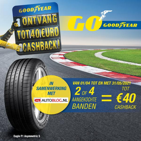 Tot €40,- cashback op Goodyear en Dunlop banden